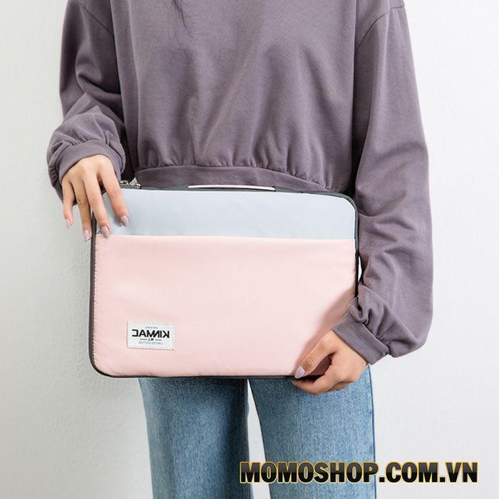 Túi laptop nữ KinMac xanh hồng - Kiểu dáng đơn giản, trẻ trung, giá rẻ
