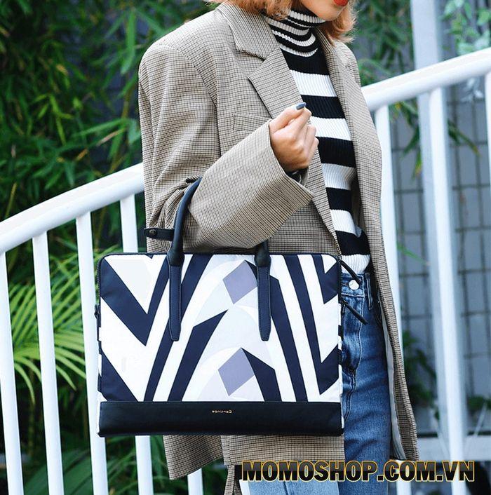 Túi xách Cartinoe Zebra - Hiện đại, sang trọng đựng vừa laptop 13 inch đến 14 inch