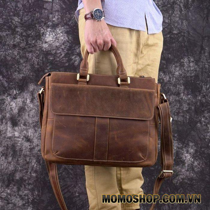 Túi xách laptop 14 inch da bò sáp