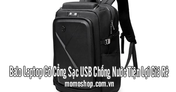 Balo Laptop Có Cổng Sạc USB Chống Nước Tiện Lợi Giá Rẻ