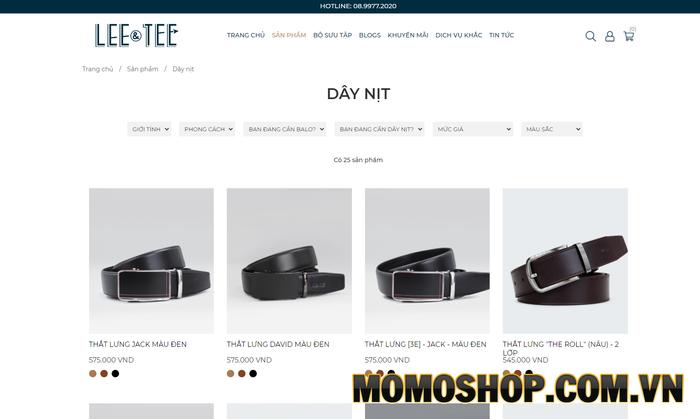 Lee & Tee - Chuỗi cửa hàng thắt lưng nam nổi tiếng tại Việt Nam