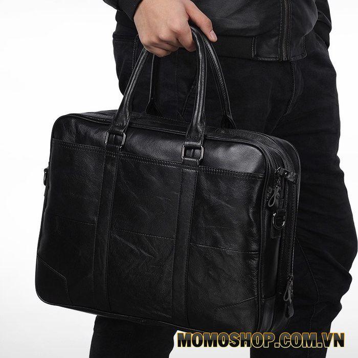Túi xách kết hợp đeo chéo nam đựng laptop 15.6 inch da bò