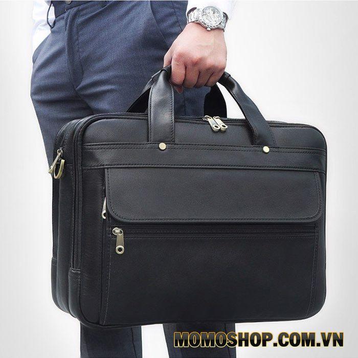 Túi xách cỡ lớn 3 ngăn đựng laptop15.6 inch da thật