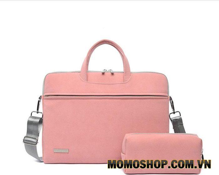 Túi xách laptop màu hồng công sở nữ cao cấp J.QMEI J002