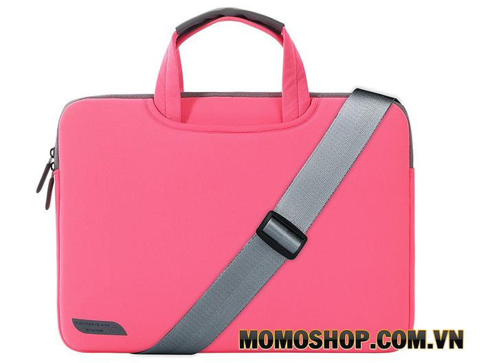 Túi xách laptop màu hồng đậm Breath Simplicity 13.3
