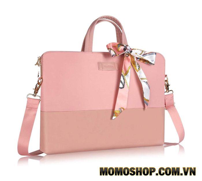 Túi xách laptop màu hồng Kamlui 13.3 inch chống sốc