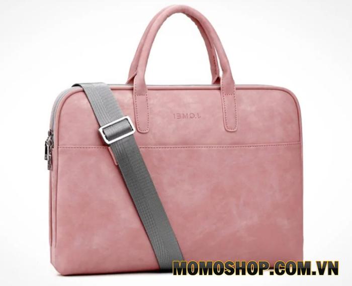 Túi xách laptop màu hồng phấn JQMEI – TX-JQ034