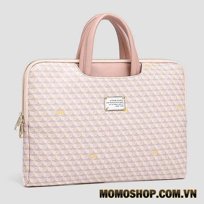 Túi xách laptop màu hồng Venuco cao cấp