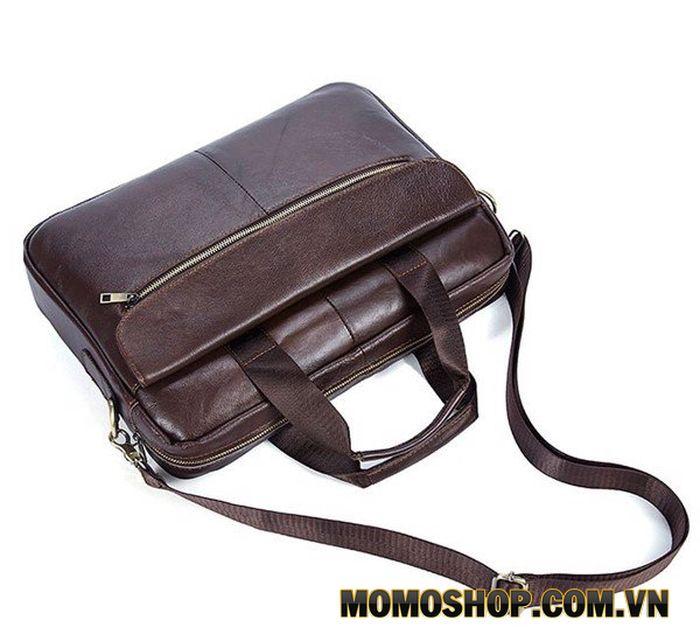 Túi xách laptop nam da bò thật đựng vừa laptop 15.6 inch