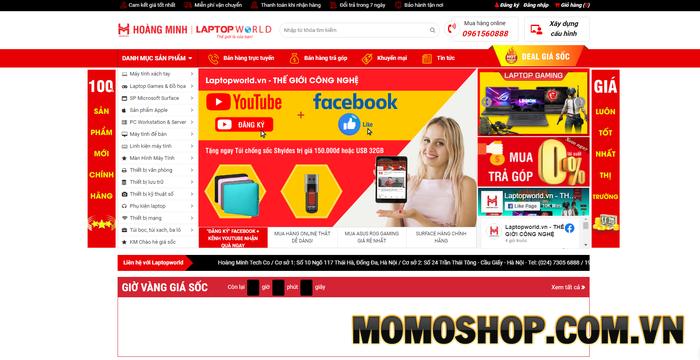Laptopworld - Chuyên cung cấp các sản phẩm công nghệ số và phụ kiện khóa