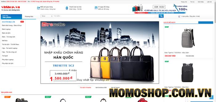 VHshop - Địa chỉ bán buôn, bán lẻ vali, balo, túi xách, phụ kiện máy tính uy tín tại Hà Nội
