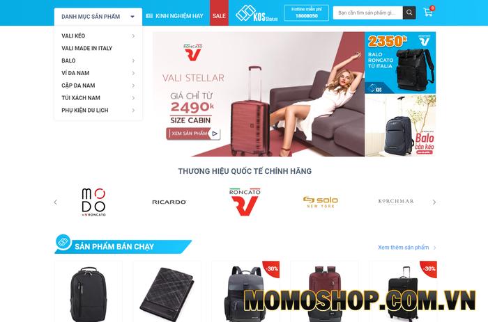 Kos Shop - Chuyên bán balo, vali, túi chống sốc laptop chính hãng