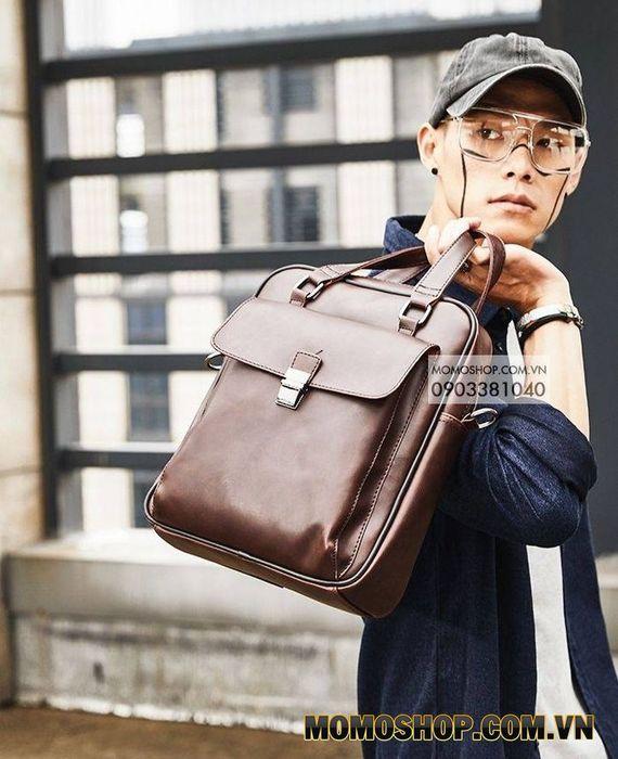 Túi Xách Da Nam Thời Trang Hàn Quốc Louis (BN246_NAU)