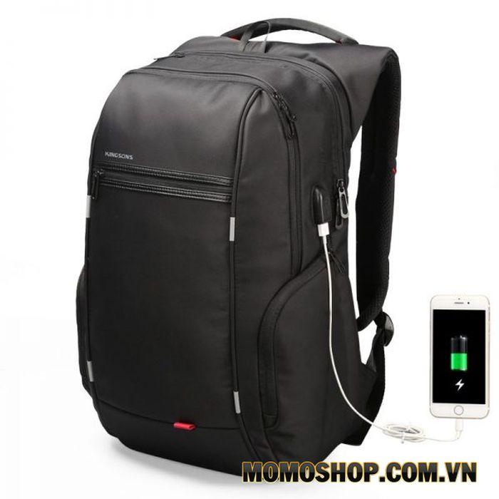 Balo laptop thông minh, chống trộm, sạc ngoài USB - KINGSONS CITY SV