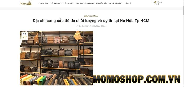 Công Ty Lano - Chuyên Cung Cấp Túi Đeo Chéo Nam Uy Tín Tại Hà Nội