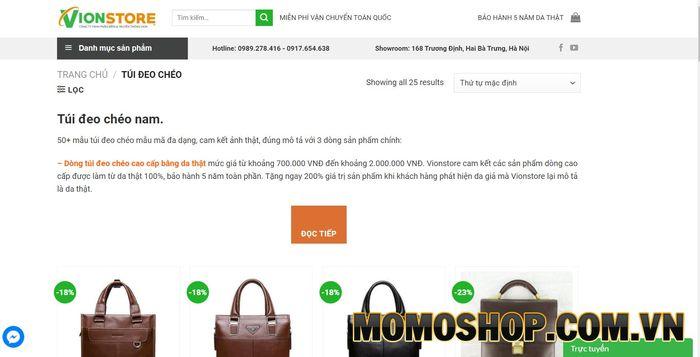 Vion Store - Túi Đeo Chéo Nam Hà Nội Giá Tốt