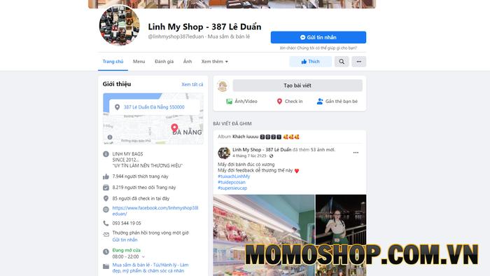 Linh My Shop - Shop cung cấp các mẫu balo laptop nữ chất lượng
