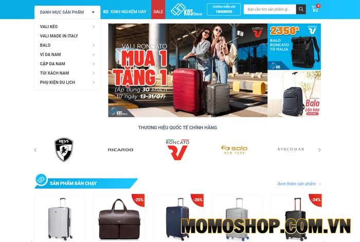 KOS Shop - Có rất nhiều mẫu balo laptop của các thương hiệu nổi tiếng