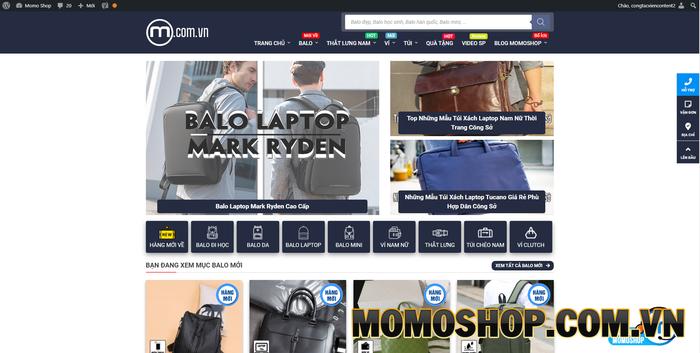Momoshop - Cung cấp các sản phẩm balo laptop chất lượng, giá tốt
