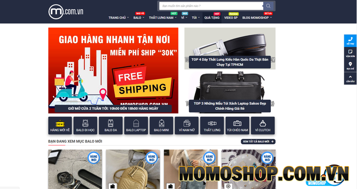 Momoshop - Shop bán thắt lưng nam được giới trẻ yêu thích