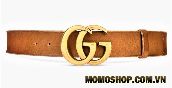 Thắt lưng bản to cho nữ Wide Brown Leather Belt With Double G Buckle