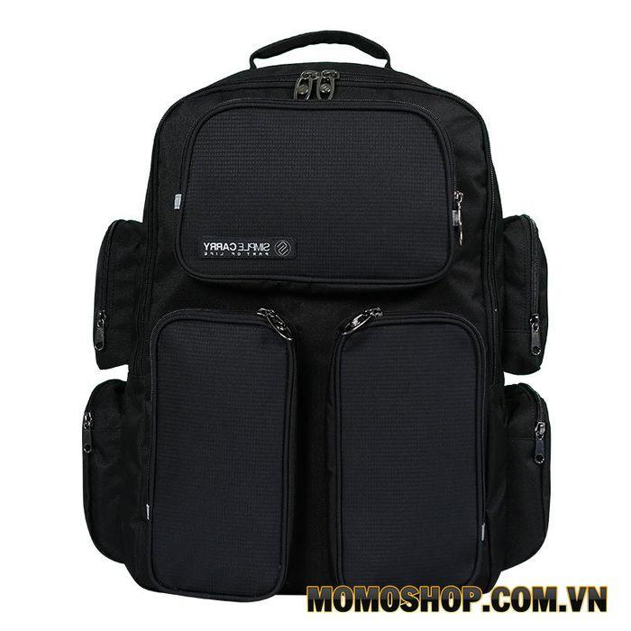 Balo laptop Simplecarry R-City Black 17.3 inch