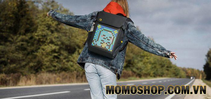 Balo laptop Divoom Pixoo Backpack-M màn hình LED