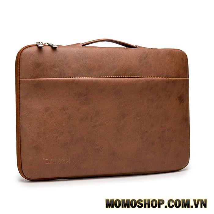 Túi xách chống sốc Laptop 13' Kinmac (KM038 – Da nâu)
