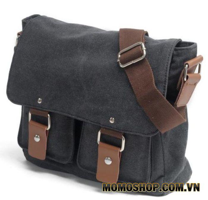 Túi đeo chéo vải bố phối da Anh Tho Leather - DC2101