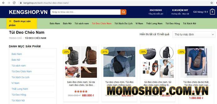KENGSHOP - địa chỉ bán túi đeo chéo nam Gò Vấp