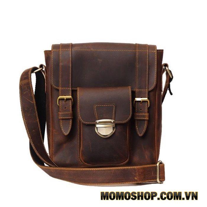Túi đeo chéo Messenger da sáp đa năng