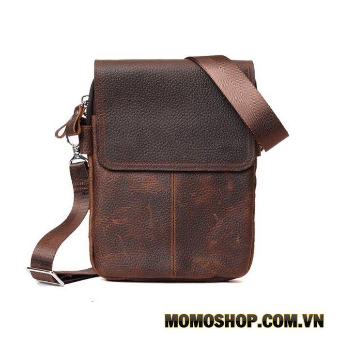 Túi đeo chéo da sáp dáng đứng đựng vừa Ipad Mini