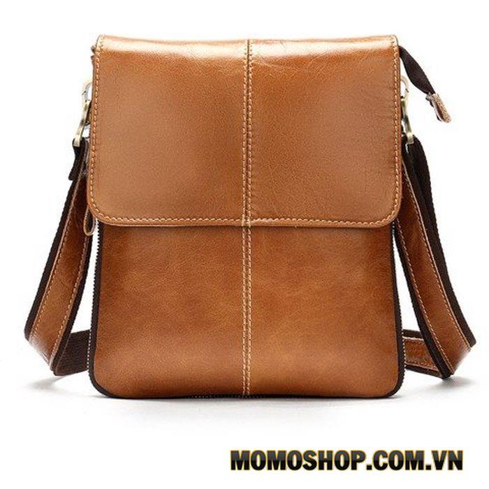 Túi đeo chéo da Messenger dáng đứng gọn nhẹ đựng Ipad