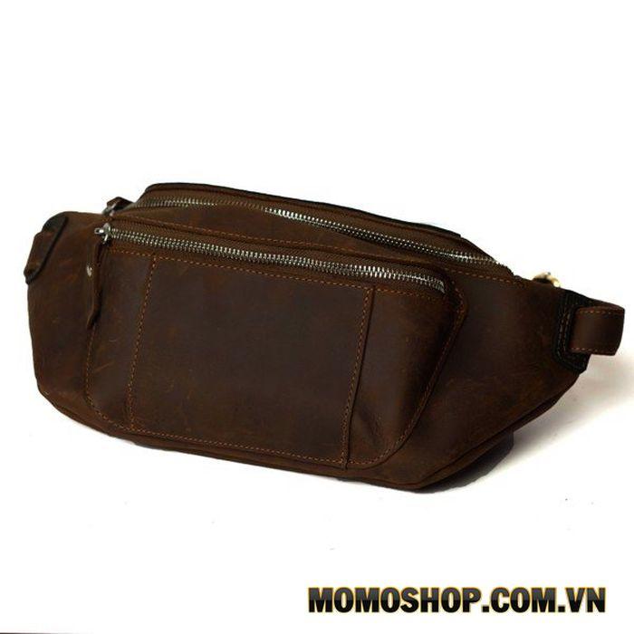 Túi đeo bụng, đeo ngực da sáp nhỏ gọn siêu bền