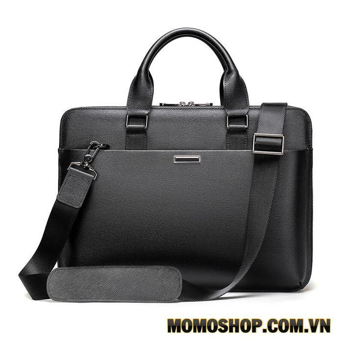 Túi xách laptop/Cặp xách nam cao cấp da bò Sanffiano