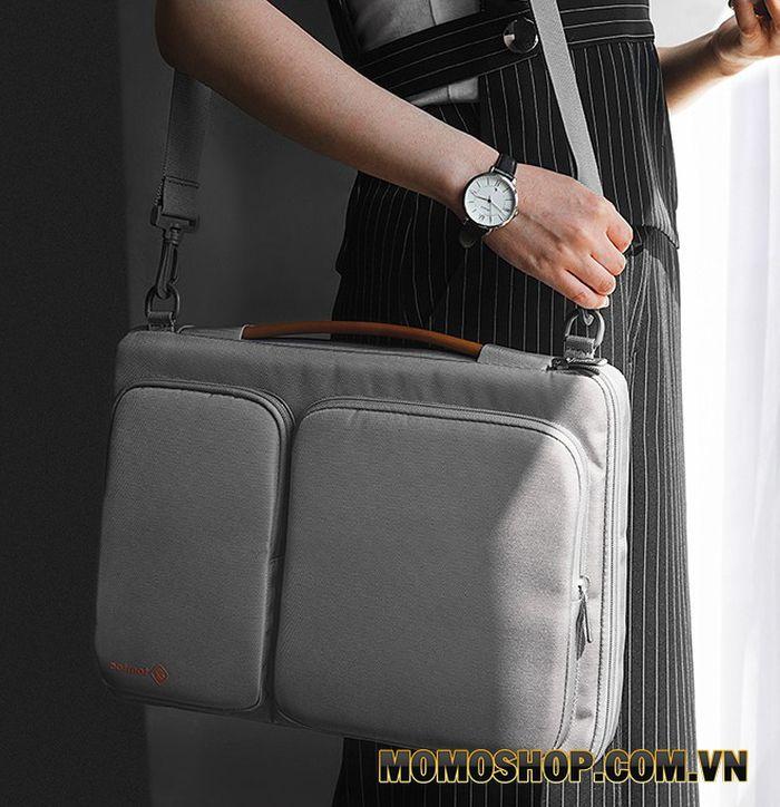 Túi xách laptop nữ thời trang Tomtoc A42 xám - Mẫu túi đặc biệt dành cho phụ nữ bận rộn