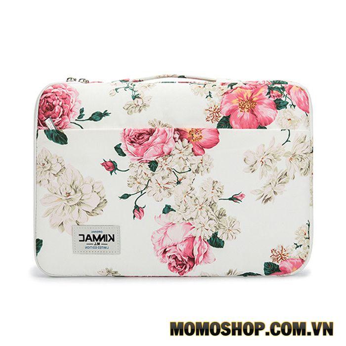Túi xách laptop nữ thời trang KinMac hoa mẫu đơn - Thiết kế đồ họa hoa đơn, giúp phái đẹp nổi bật giữa đám đông