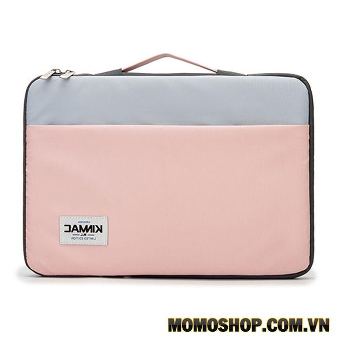 Túi xách laptop nữ thời trang chống sốc KinMac Pink Blue KM045 - Thiết kế đơn giản, trẻ trung, giá rẻ