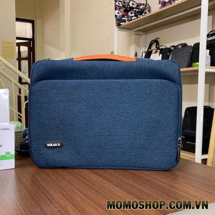 Túi xách laptop nữ thời trang chống sốc Kalidi K346 - Thiết kế với màu xanh độc đáo