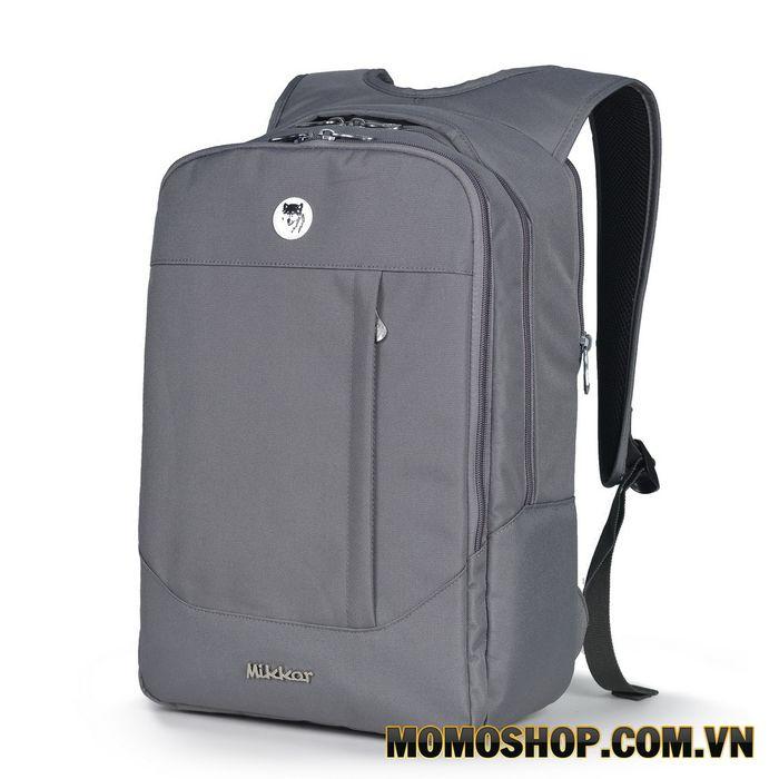 Balo laptop Mikkor The Arthur Premier M Dark Mouse Grey
